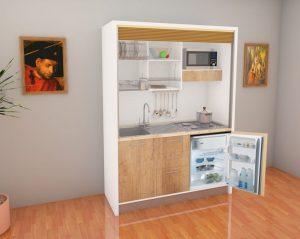 cucina monoblocco per risparmiare spazio in casa